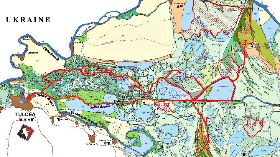 Croaziera cu hotelul plutitor 4 zile - harta traseu